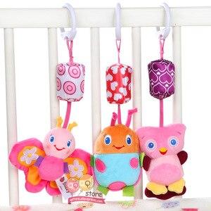 Image 2 - Baby Rammelaar Speelgoed Pluche Kinderwagen Opknoping Bell Ring Mobiles Infant Baby Zachte Crib Kids Educatief Speelgoed Voor Kinderen Gift Sozzy