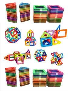 Brick Building-Blocks Magnetic-Toys Enlighten-Bricks Square Designer Big-Size Free-Stickers
