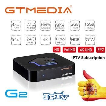 GTMEDIA G2 Android TV Box+IPTV  Live TV 7000+Liv Set Top Box 4K HD H.265 2.4G Wifi media player M3U TV BOX box tv android child h96 mini h6 quad core h 265 wifi hd tv box built in software youtube 4k media player smart tv iptv boxes
