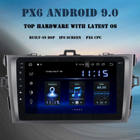 2 din Android 9.0 car multimedia player for Toyota Corolla 2007 2008 2009 2010 2011radio PX6 DSP HDMI 8 IPS GPS navi 4GB+64GB