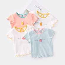 Kids Cartoon Summer T-shirts 2020 New Fashion Girls Sweet Fruits Print Tops Casual Short Sleeve Children Clothing майка print bar summer fruits