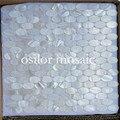 Чисто белая перламутровая мозаичная плитка настенная плитка для ванной комнаты и кухни Овальный узор