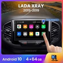 AWESAFE PX9 para Lada de rayos X, rayos X 2015-2019 auto Radio Multimedia reproductor de video GPS 4G wifi 2 din Android 10,0 2GB + 32GB