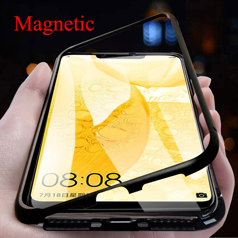 Magnetic Adsorption Metal Phone Case For Xiaomi Redmi 8A 8 Note 8 7 5 6 K20 Pro Mi 9T 9SE 8SE CC9E A3 Lite 9 CC9 F1 Glass Cover