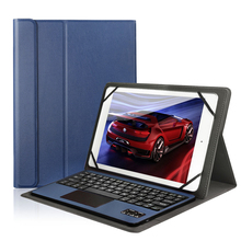 цена на Bluetooth Keyboard Case Cover for Samsung Galaxy Note 10.1 Tablet N8010/N8000 Tab A 9.7 T555C/T550 with Touchpad Keyboard