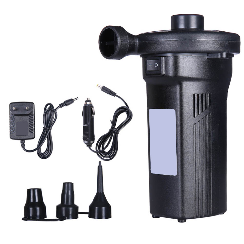 Car Auto Inflate Air Mattress Pump Outdoor Electric Air Pump Fast Filling Camping Portable Rechargeable Mattress Home Use