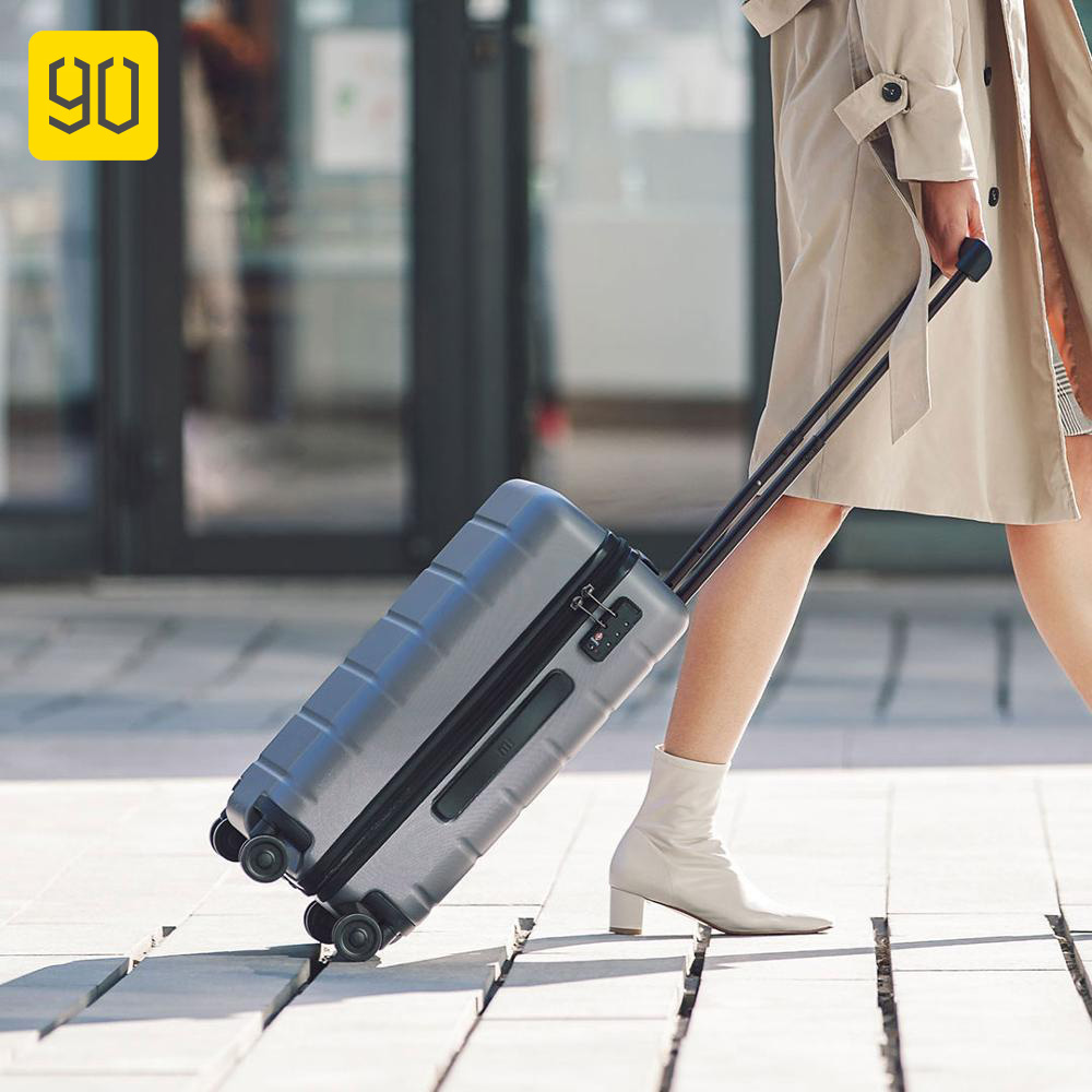 90FUN PC trolley Suitcase Carry on Spinner Wheels Rolling Luggage Password Business Travel for Women men mala de viagem