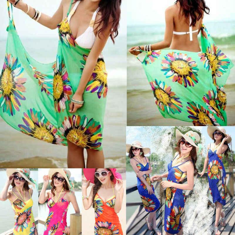 여름 커버 업 여성 수영복 비키니 수영복 커버 비치 드레스 sarong wrap pareo