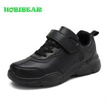 Kids Running Shoes Boys Rubber Sole Boys Walking Shoe Children Comfortable School Boy Sneakers Black Leather Sport Kid Shoes