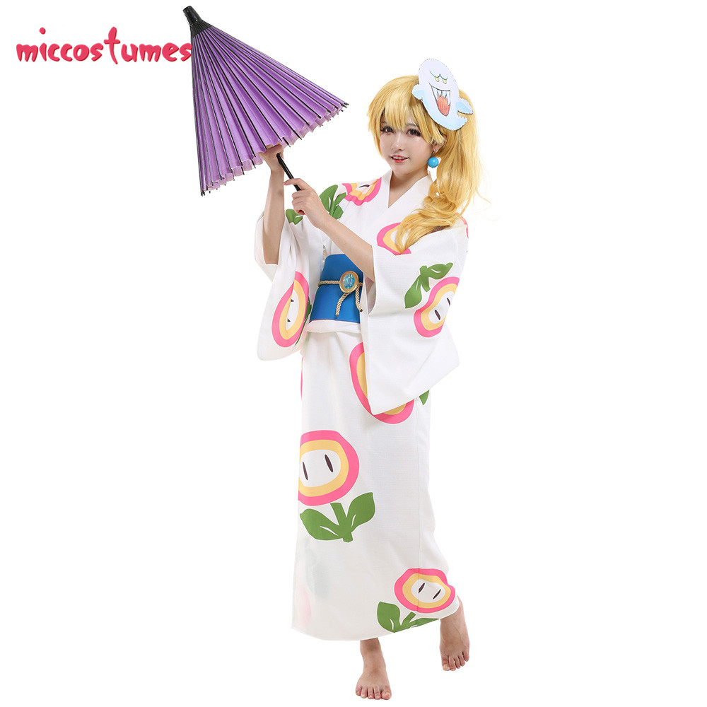 Odyssey Princess Peach Outfits Kimono Cosplay Costume Women Halloween Cosplay Outfit