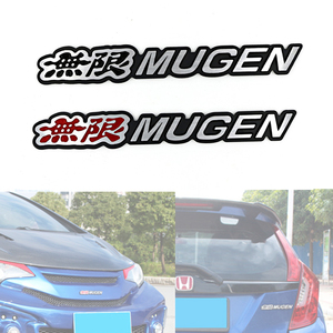 Image 5 - 3D Aluminum Mugen Emblem Chrome Logo Rear Badge Car Trunk Sticker Car Styling For Mugen Honda Civic Accord CRV Fit and so on