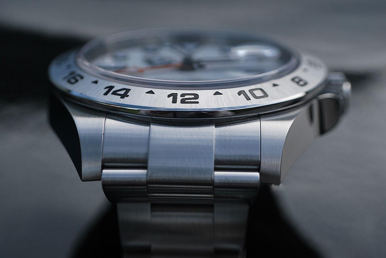 aço inoxidável luxo automático relógio mecânico explorer