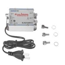 220 فولت 2 طريقة CATV كابل التلفزيون مكبر صوت أحادي أمبير معزز هوائي الفاصل مجموعة برودباند الرئيسية التلفزيون المعدات 45 ميجا هرتز إلى 860 ميجا هرتز