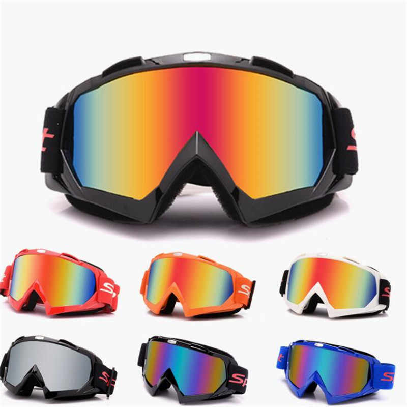colorful lens clear motorbike eye protection riding eyewear windproof helmet sunglasses universal moto goggle dirt pit bike eye protect outdoor sport Off-road racing accessories motorcycle glasses motocross goggles