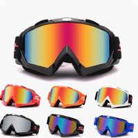 Objectif coloré clair moto rbike protection des yeux lunettes de vélo coupe-vent casque lunettes de soleil universel moto lunettes de protection des yeux de vélo de boue en plein air sport tout-terrain course accessoires moto rcycle lunettes moto cross ...