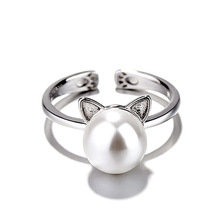 100% Natural Freshwater Pearl Ring Jewelry 925Sterling Silver For Women White Gold Wedding Engagement Anniversary Gift