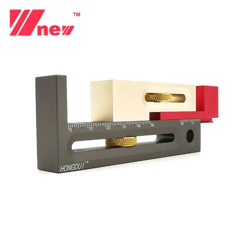 Multifunction Saw Table Slot Regulator Ruler Woodworking Gap Gauge Movable Measuring Block Length Compensation Tool