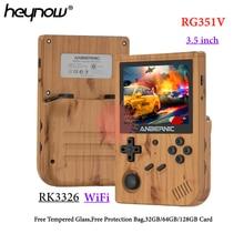 HEYNOW Newest RG351V Retro Game Console RK3326 Handheld Game Player 3.5