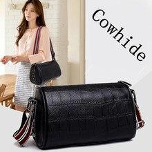 100% pelle bovina borsa da donna di alta qualità borsa a tracolla di lusso borsa a tracolla in pelle moda donna borse a tracolla Bolsas femminile