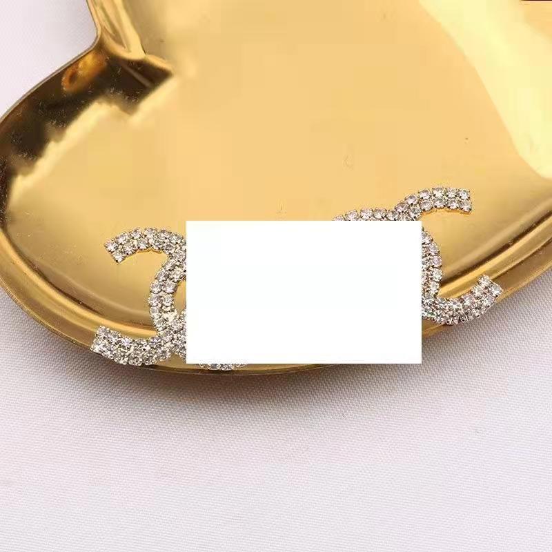 Boucles d'oreilles en strass pour femmes, bijoux géométriques, en forme de cercle rond, cc