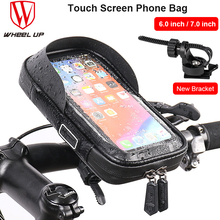 Bike Bag Rainproof Front Frame Bicycle Top Tube Handlebar Cell Mobile Phone Bag 7 inches Touch Screen Case Cycling Accessories trinx bicycle bag rainproof bike headtube bag cycling top tube bag mtb city bike frame front head cell phone touch screen bag