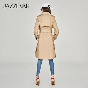 Image 5 - JAZZEVAR 2019 nieuwe lente herfst mode Casual vrouwen kaki Trenchcoat lange Bovenkleding losse kleding voor dame met riem 850115