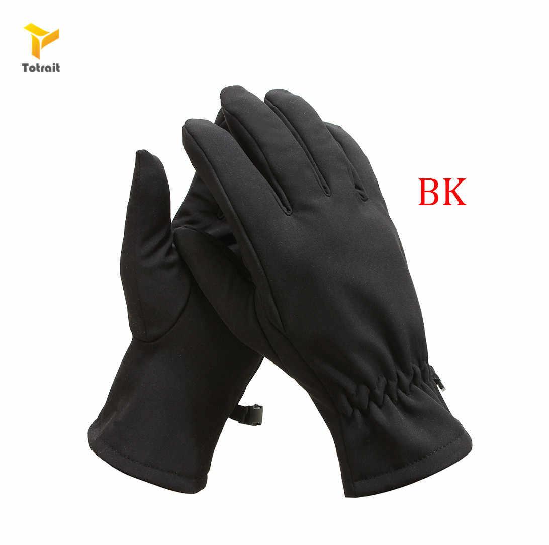 Totrait тактические перчатки Акула кожа мягкая оболочка камуфляжные перчатки полный палец теплые водонепроницаемые ветрозащитные флисовые Floves