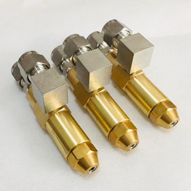 68mm 0,5/0,8/1,0/1,2/1,5/2,0/2,5/3,0mm altöl brenner düse, luft zerstäubung düse, heizöl düse, volle kegel öl spray düse