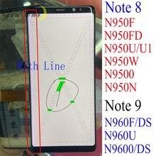 Voor Samsung Note 8 Lcd Touch N950 N950 Lcd Display Voor Samsung Note8 Lcd Band Line Display Mobiele Telefoon defecte Scherm
