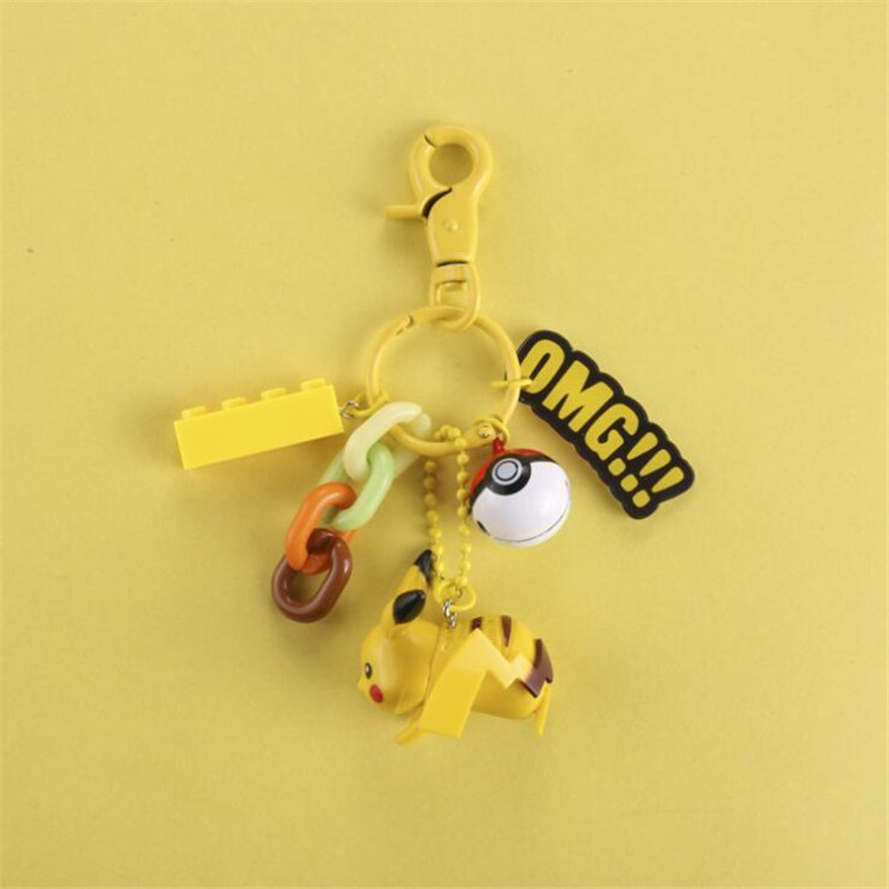 Hot New Japan Anime Pokemon Key Chain Cosplay Badge Pikachu Squirtle Charmander Bulbasaur Cartoon Cute Key Ring Fancy Gift