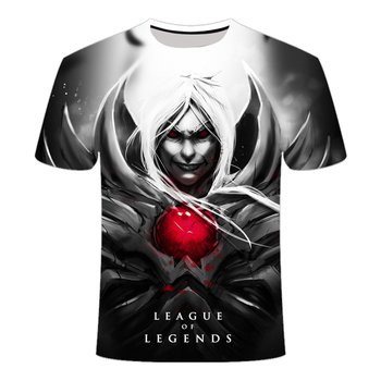 2020 New Dark style 3D League of legends T shirt Yasuo Jarvan IV Twisted Fate E-sports team clothing men's women's LOL t-shirt 2