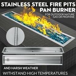 48 x 6 Drop-in пожарная сковорода с горелкой линейный корыто низкоэтажное Напольное отопление
