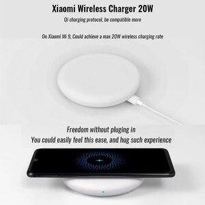Image 2 - Origianl Xiaomi אלחוטי מטען 20W (מהיר אלחוטי פלאש טעינה/עצמאי שקט מאוורר/עם Qi טעינה סטנדרטי