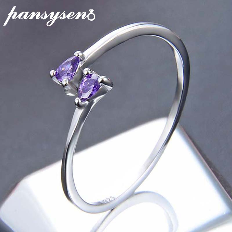 Jewelry Tail-Ring Heart S925-Sterling-Silver Creative Wholesale Women New Crystal Fine-Gift