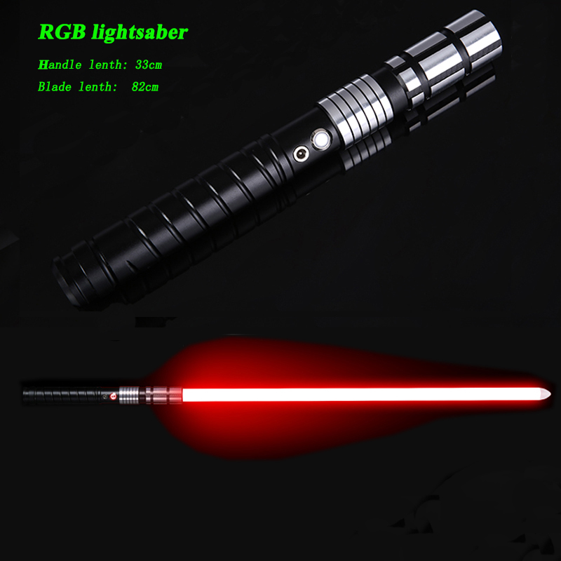 LGTOY Jedi LED Light Saber Force FX Heavy Dueling Rechargeable Lightsaber Loud Sound High Light With FOC MetalHilt Christmas