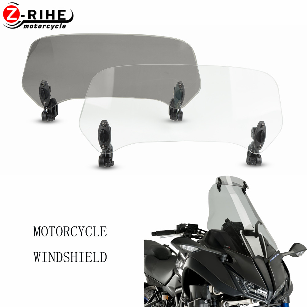 Motorcycle accessories Risen Adjustable Windscreen Windshield Extend Air Deflector Screen Moto Parts for yamaha NIKEN 2018 2019