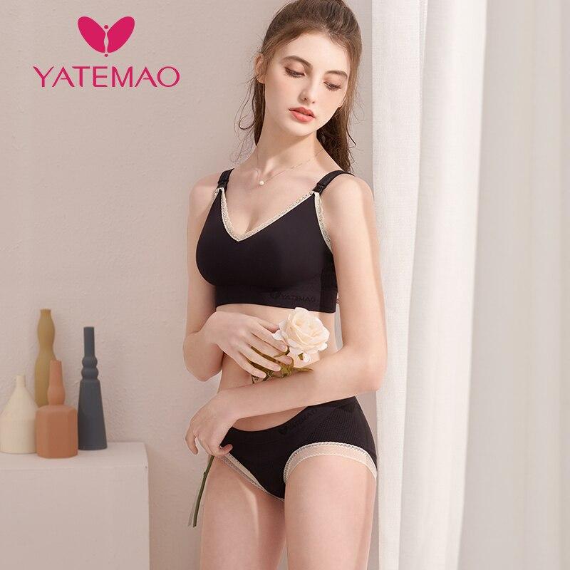 YATEMAO Maternity Nursing Bras Set Pregnant Breastfeeding Breast Feeding Bra Soutien Gorge Allaitement Pregnancy Women Underwear