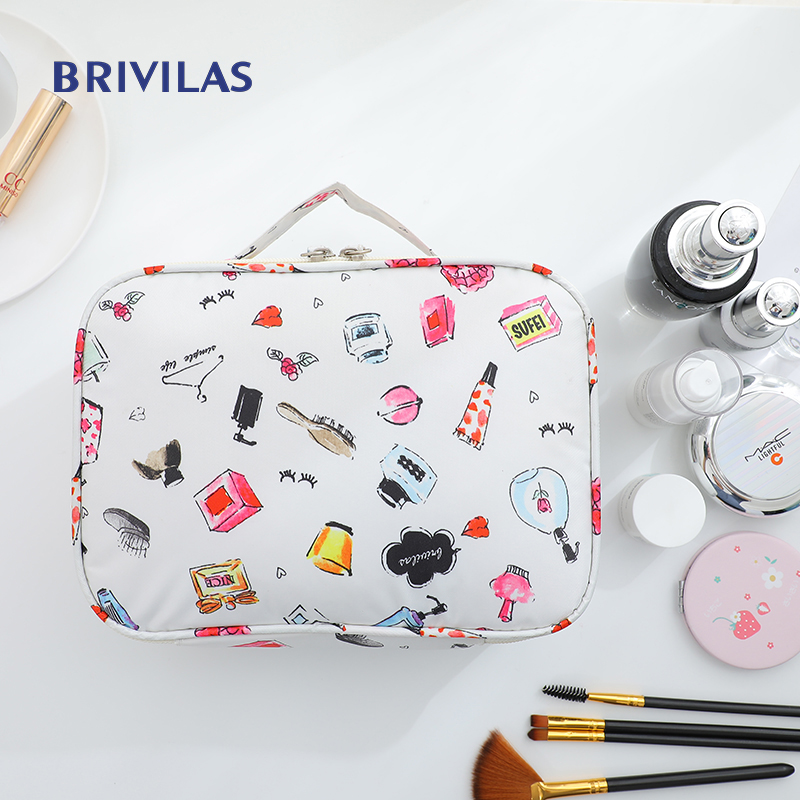 Brlvilas New Multifunction Cosmetic Travel Bag Flamingo Women Makeup Bags Storage Soiletries Waterproof  Female  Washmakeup Case