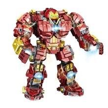 Toys Blocks Armored Heroes Educational Children Figures Mech-Model Assembling Iron Supr