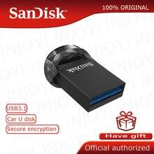 الأصلي سانديسك حملة القلم CZ430 البسيطة محرك فلاش USB 32GB يصل إلى 130 متر/الثانية 16GB 64gb بندريف USB 3.0 دعم التحقق الرسمي
