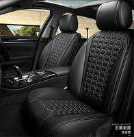 Car Seat Cover Cushion Pad Fabric Luxury Pu Leather Black Full Heat 5d Surround Sponge