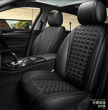 Luxury Full Seat Black PU Leather Sponge Fabric Car Cover Cushion Pad 5D Surround