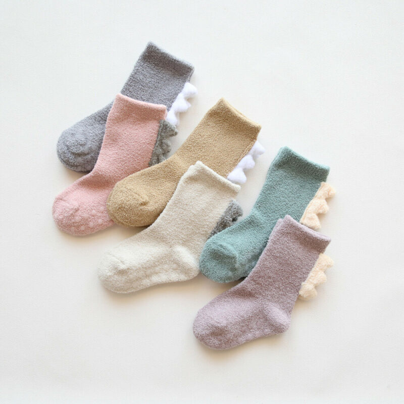 Newborn Baby Long Socks Toddler Boys Girls Cute Little Dinosaur Leg Warmers Sock Autumn Winter Warm Thicken Lovely Gifts Sox New