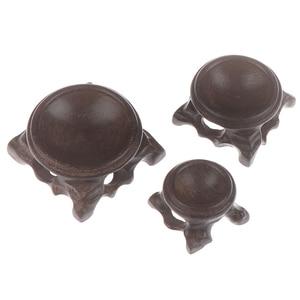 Madeira expositor base para bola de cristal esfera globo pedra decoração artesanato estatuetas miniaturas suporte bola de cristal