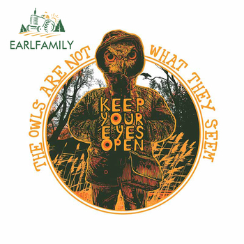 EARLFAMILY 13cm x 12.9cm for The Owls Are Not What They Seem Car Stickers Wall Custom Printing JDM Assessoires Vehicle Decal image