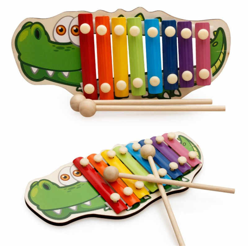 Baby Kid Musical Toys Rainbow Wooden Xylophone Instrument for Children Early Wisdom Development Education Toys For Kids Gifts
