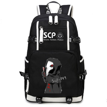 SCP Secure Contain Protect Cosplay Backpack Capacity School Shoulder Bag Teenager Laptop Travel Rucksack Gift