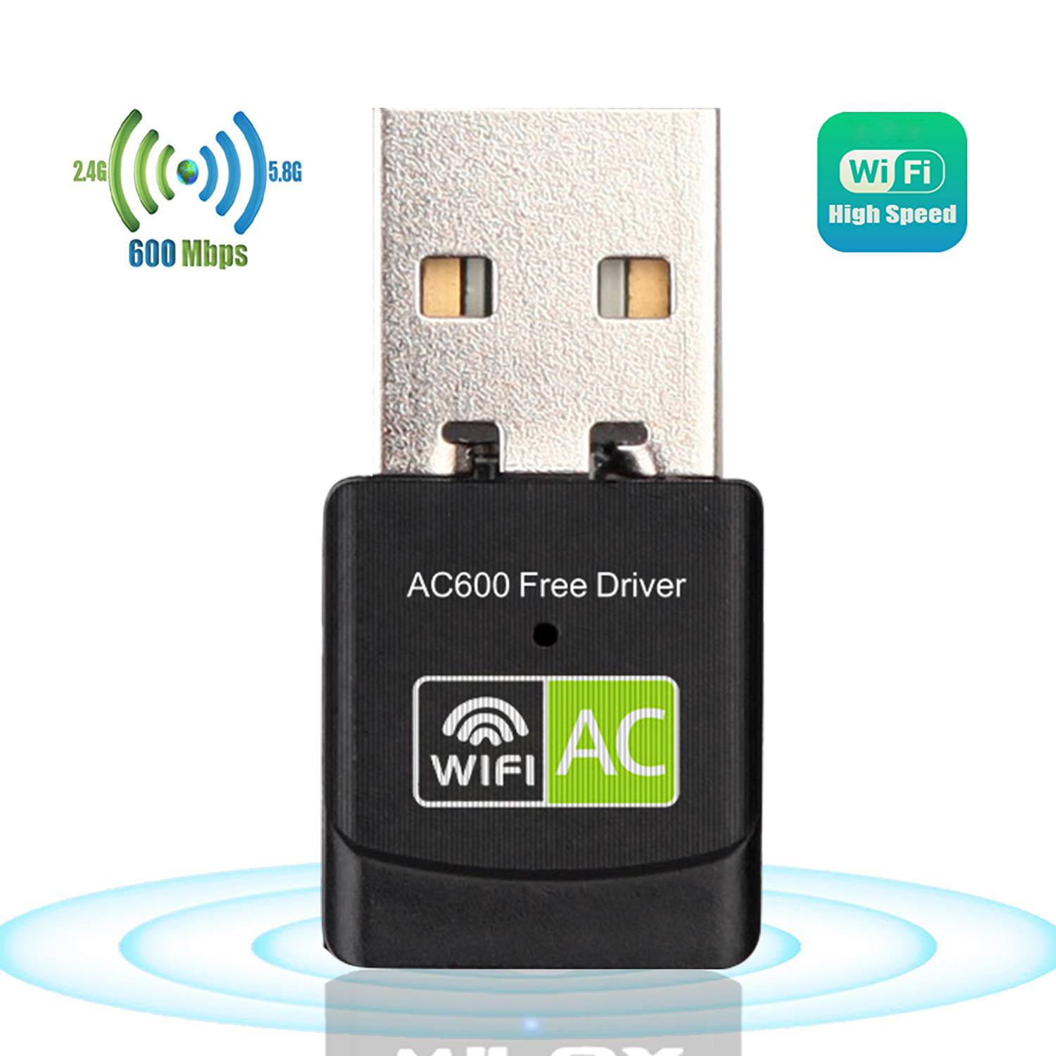 Driver USB Wifi Adapter 600Mbps Wi fi Adapter 5 ghz Antenna USB Ethernet PC WiFi