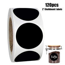 120 шт/рулон пустая этикетка круглая меловая доска наклейка на кухонную кладовую этикетки для консервирования, каменщика или баночки для специй многоразовые этикетки наклейки