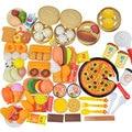101Pcs Simulation Lebensmittel Cut Obst Pretend Spielen Kinder Küche Spielzeug Miniatur Chinesischen und Westlichen Lebensmittel Sicher Spielen Pädagogisches Spielzeug